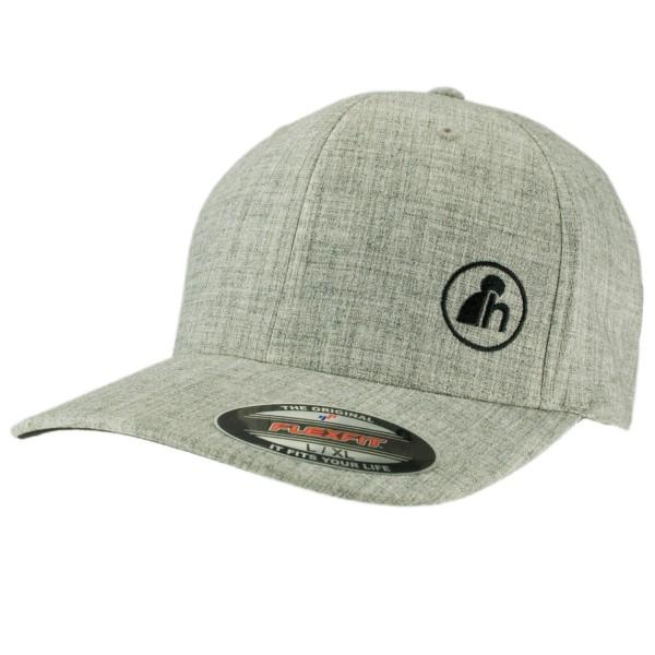 haubn Flexfit Cap Classic hellgrau logo h schwarz