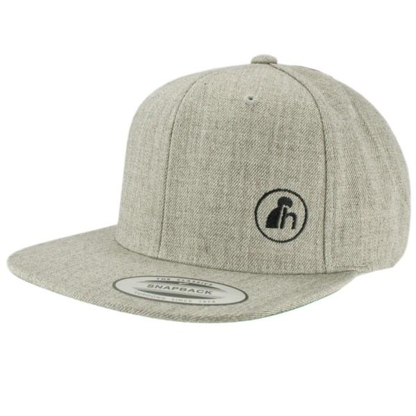 haubn Snapback Cap Classic hellgrau logo h schwarz