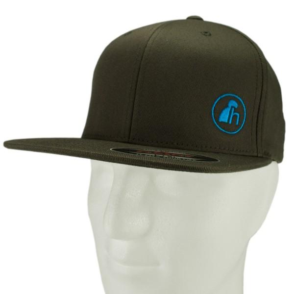 haubn Flexfit Cap Classic olive logo h blau