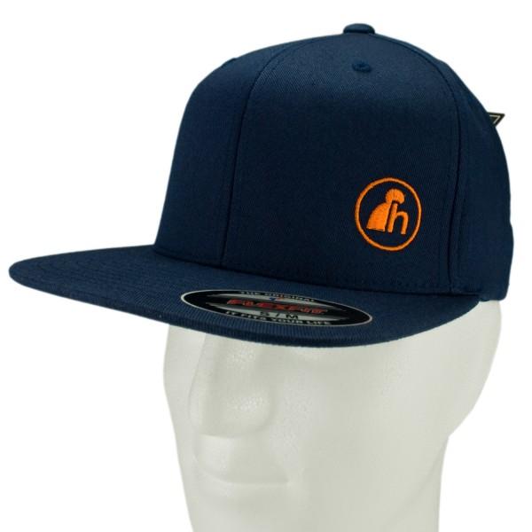 haubn Flexfit Cap Classic navyblau logo h orange