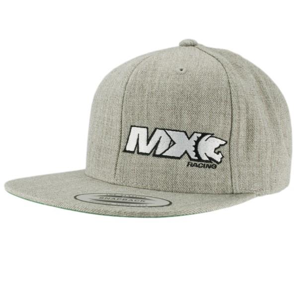 haubn Snapback Cap Classic helllgrau MX weiss