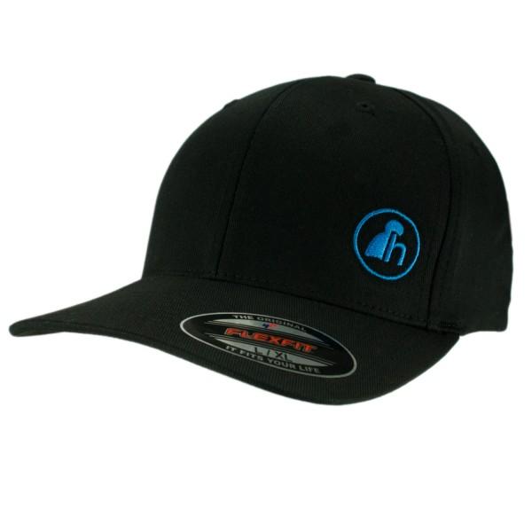haubn Flexfit Cap Classic schwarz logo h blau