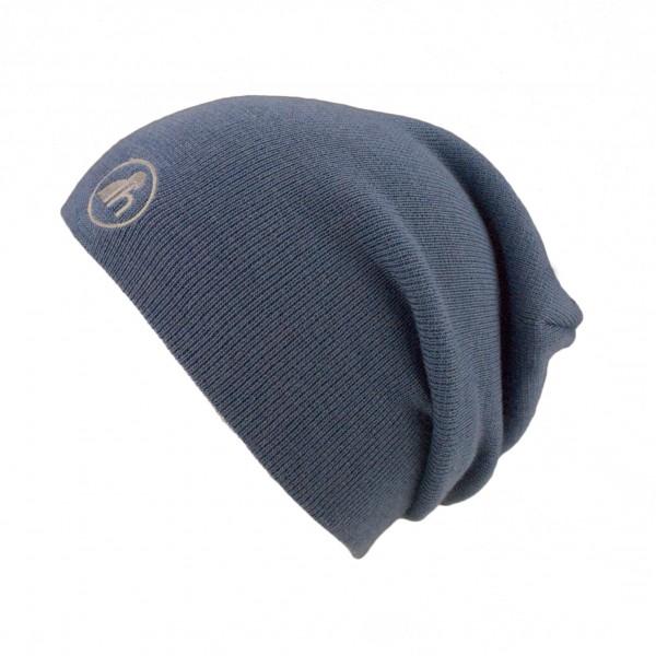 haubn merino beanie hat jeanslogo light grey